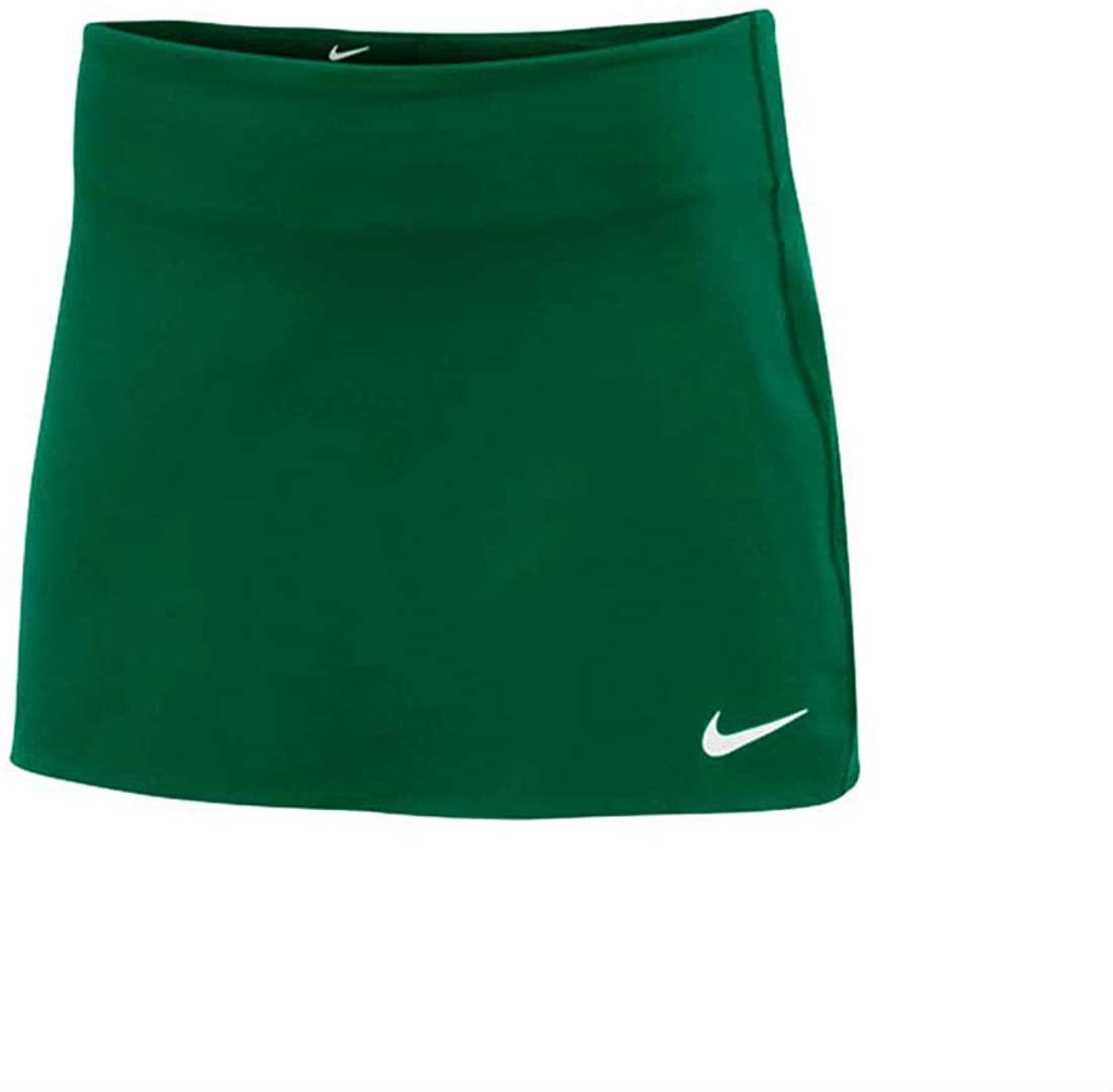 Nike Women's Court Power Spin Tennis Skirt (Dark Green, Large)