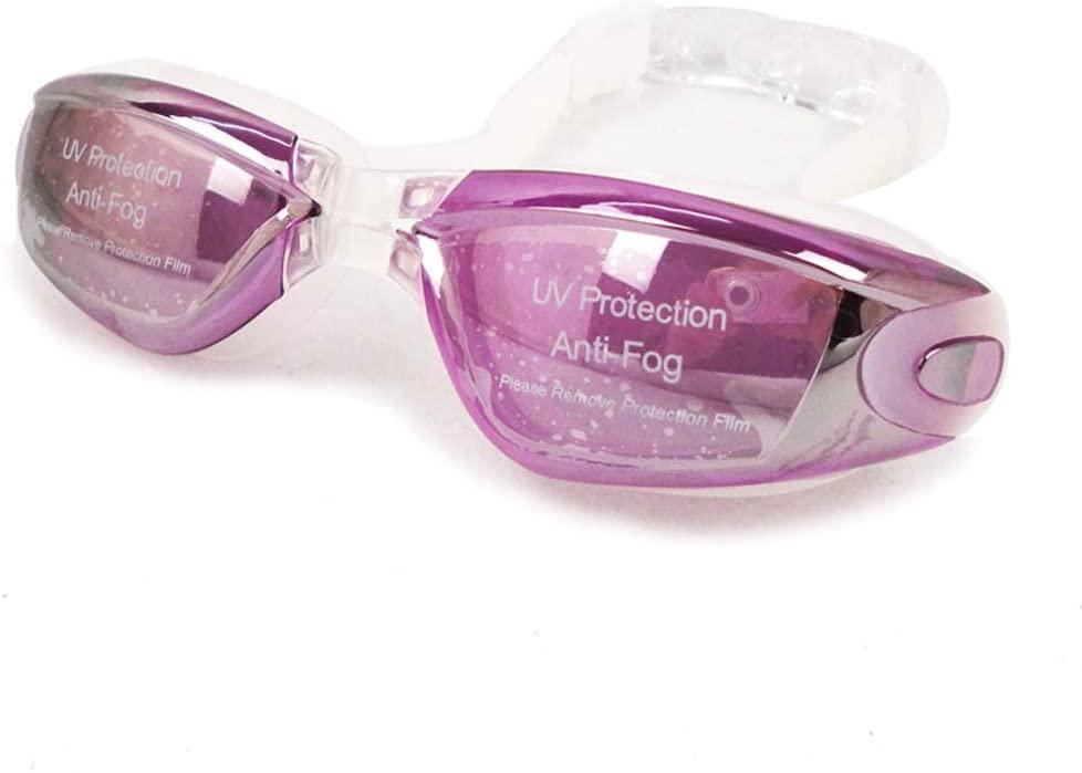 AduYan Waterproof Plating Anti-Fog Swimming Goggles Men and Women Large Frame Diving Goggles