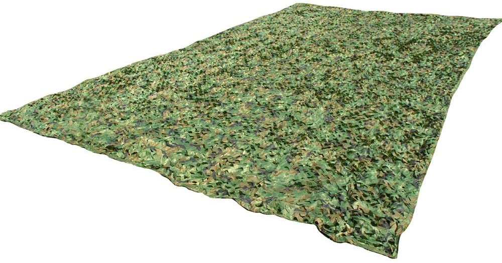 JU FU Outdoor Durable Camouflage Net, 210D Polyester Oxford Cloth Jungle Camouflage Sunshade Camouflage Jungle Adventure Camping Hunting Shooting Block, 30 Sizes (Size Can Be Customized) @@