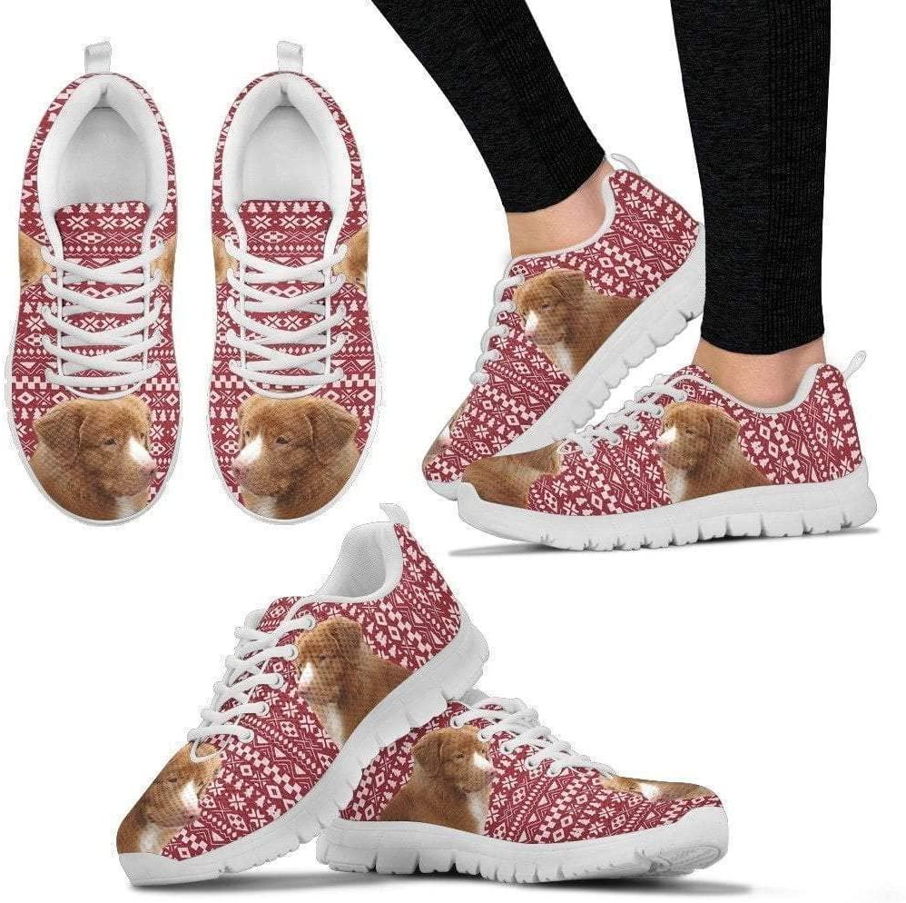 Paws With Attitude Nova Scotia Duch Troling Retriever Christmas Print Running Shoes for Women