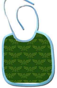 Triforce Green Polyester 9x8 Baby Bib
