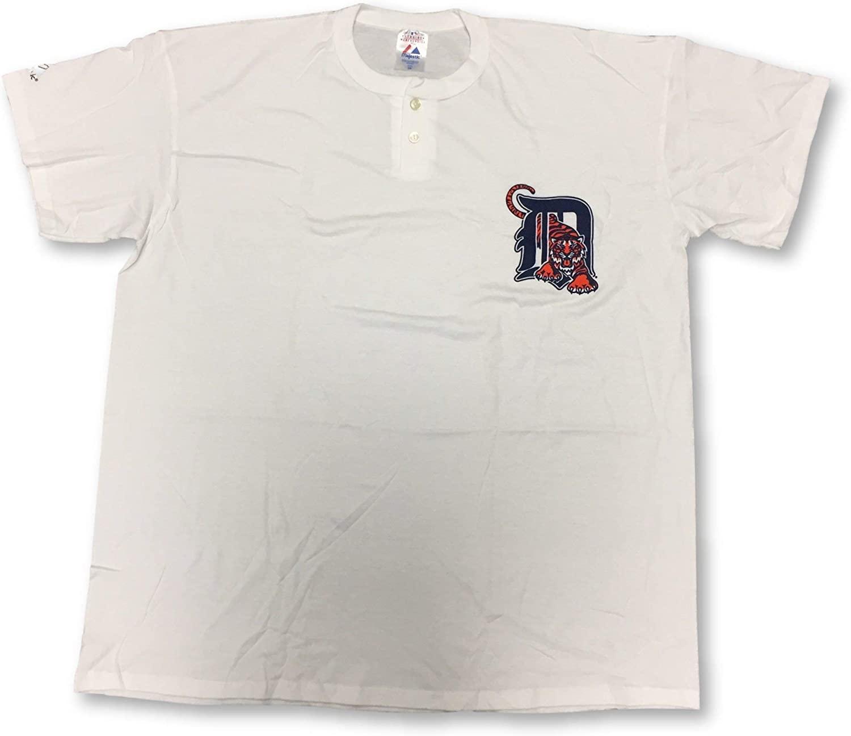Majestic Detroit Tigers Two-Button Men's Jersey T-Shirt