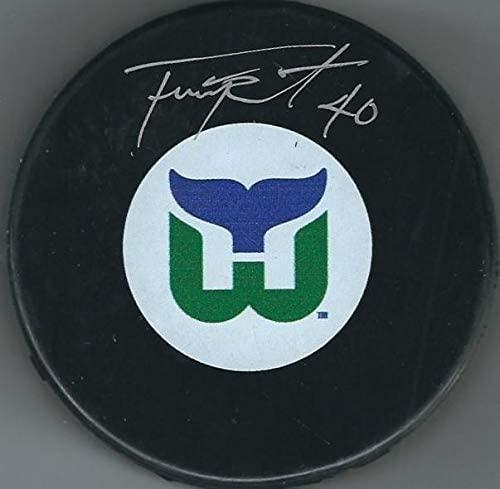 Frank Pietrangelo Signed Hockey Puck - Autographed NHL Pucks