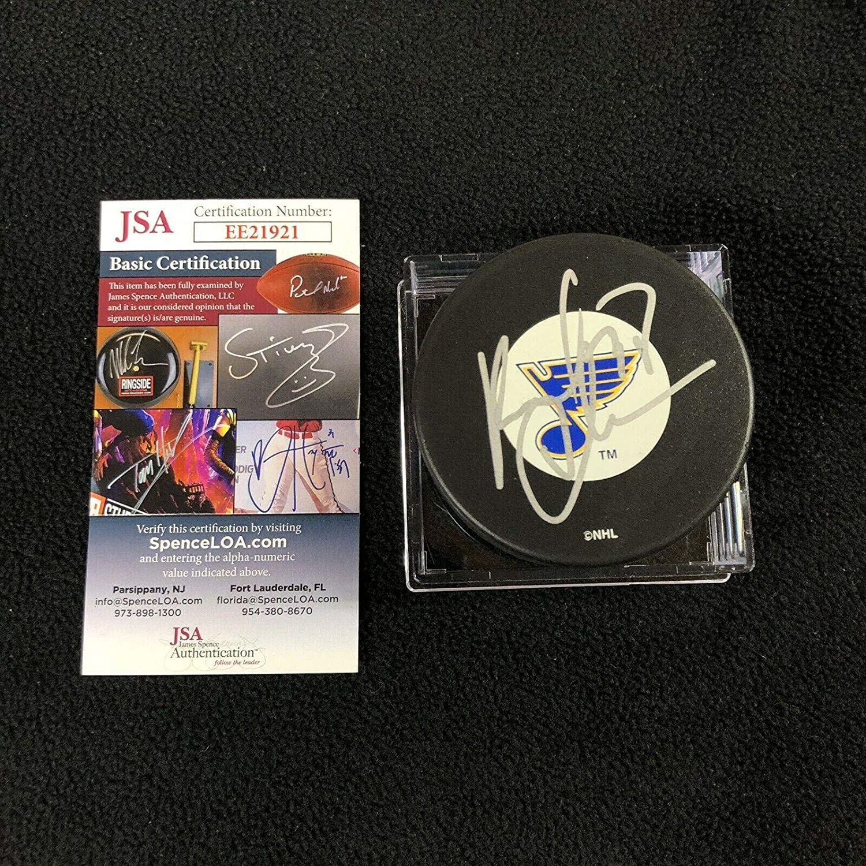 Pavol Demitra Autographed Puck - COA Authenticated Lokomotiv - JSA Certified - Autographed NHL Pucks