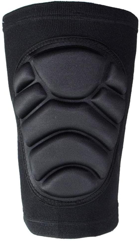 FANLI Basketball Professional Knee Pads, Sponge Crashproof Knee Brace Padded Outdoor Sports Breathable Unisex-Black XL