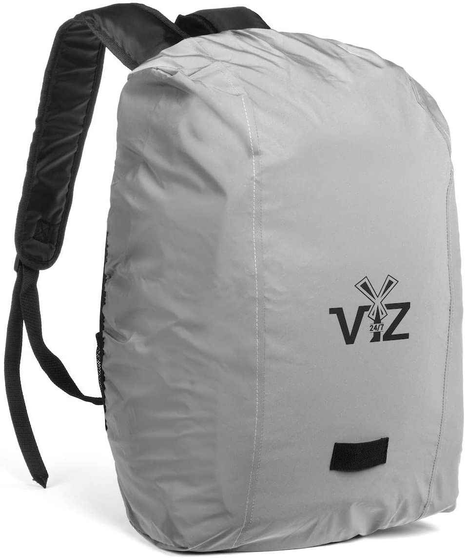 247 Viz Reflective Backpack Cover, Water Resistant Materials and Backpack Rain Cover, Entirely Reflective Gear - One Size Fits All