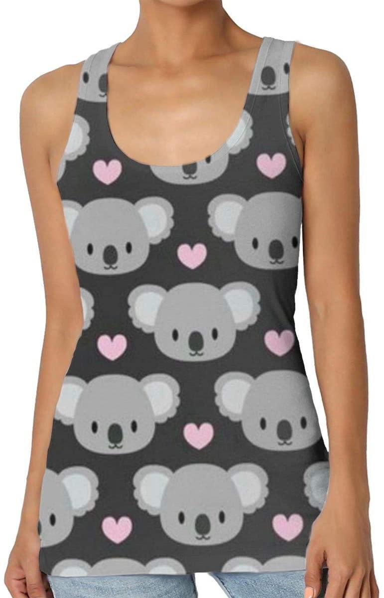 Yongchuang Feng Koala Heart Women's Tank Top T-Shirt Cool Sleeveless Vest