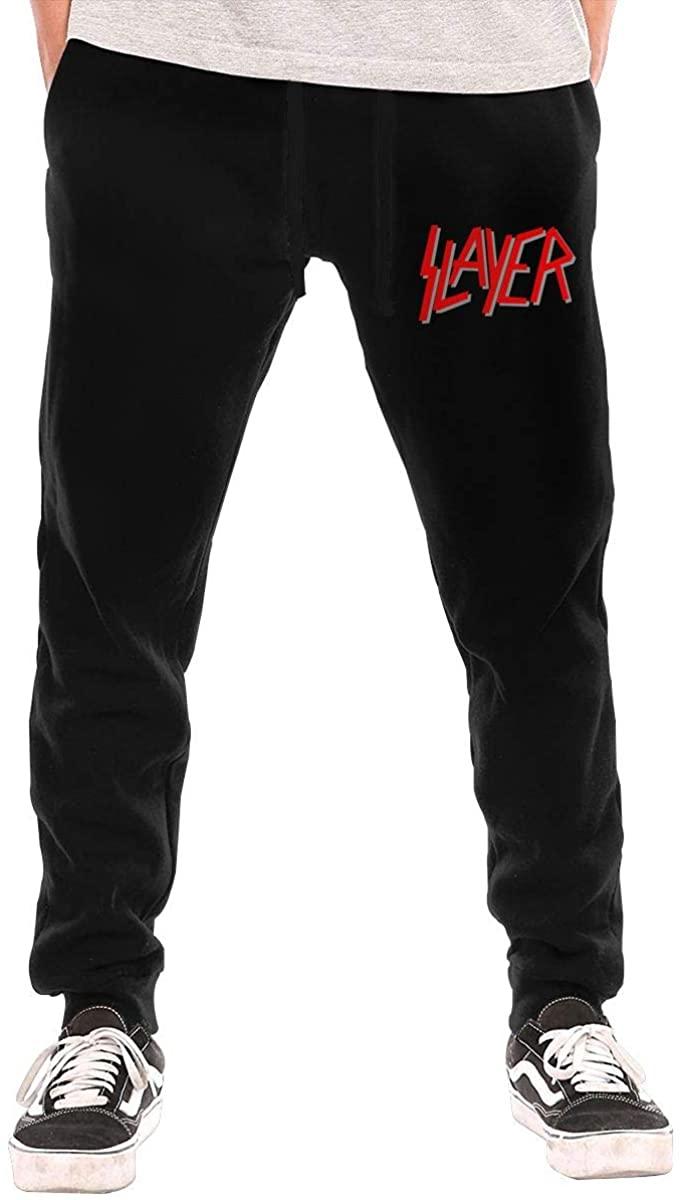 Slayer Logo Men's Sports Pants Fashion Sweatpants Workout Athletic Jogger Long Pants