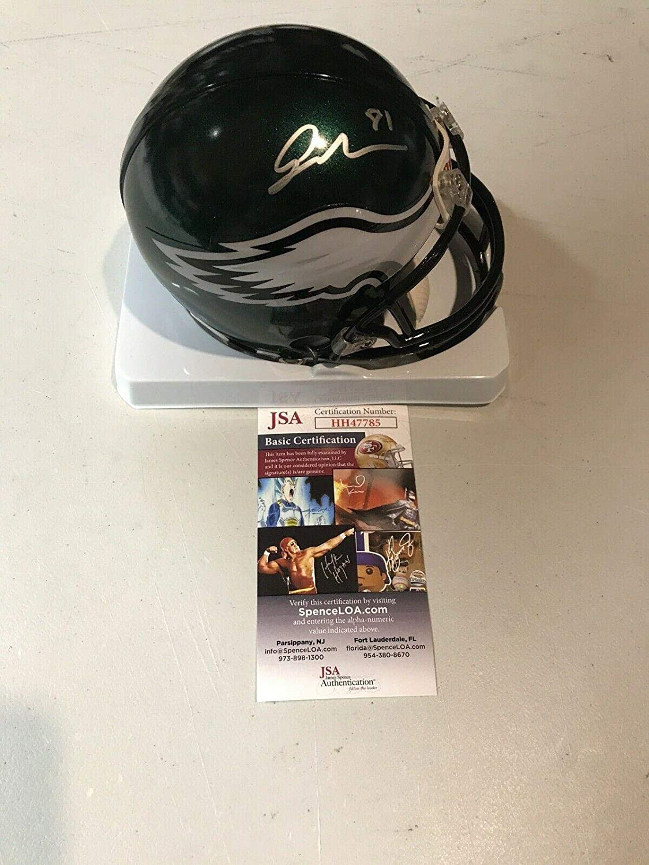 Jordan Matthews Autographed Mini Helmet - by - JSA Certified - Autographed NFL Mini Helmets