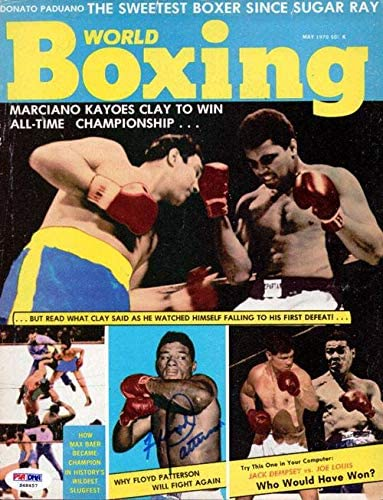 Floyd Patterson Autographed Boxing World Magazine Cover #S48457 - PSA/DNA Certified - Autographed Boxing Magazines