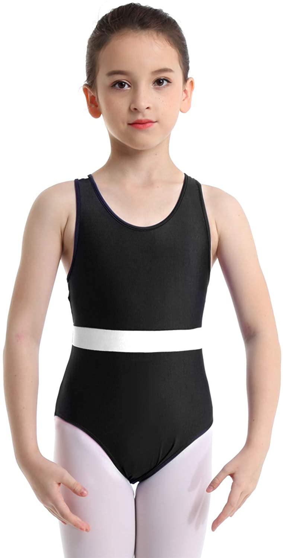 iiniim Girls Sleeveless Criss-Cross Straps Back Ballet Gymnastics Leotard Performance Dance wear Costume
