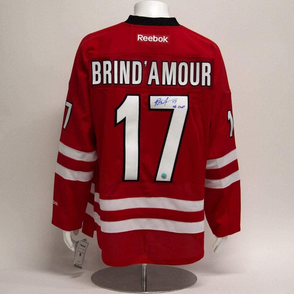 Rod Brind'Amour Carolina Hurricanes Signed Reebok Premier Jersey w/ 06 Cup Note - Autographed NHL Jerseys