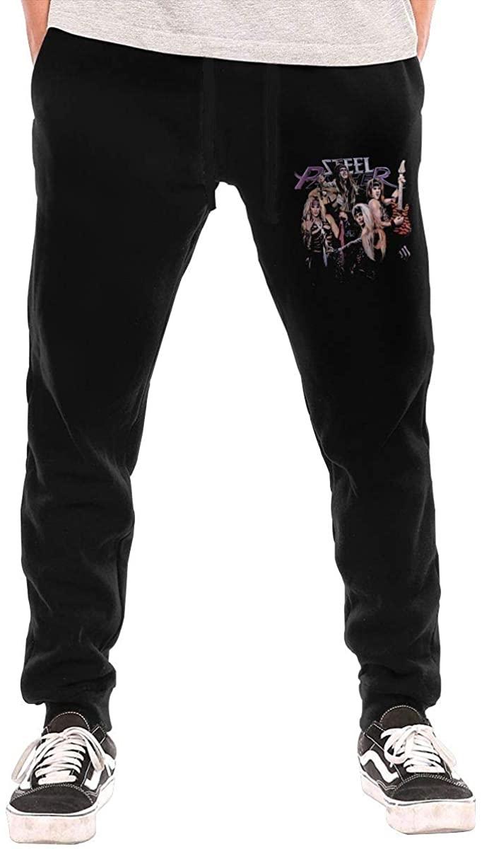 AP.Room Men's Steel Panther Sports Casual Pants Black