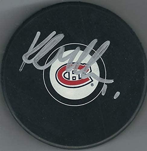 Autographed Kirk Muller Montreal Canadiens Hockey Puck