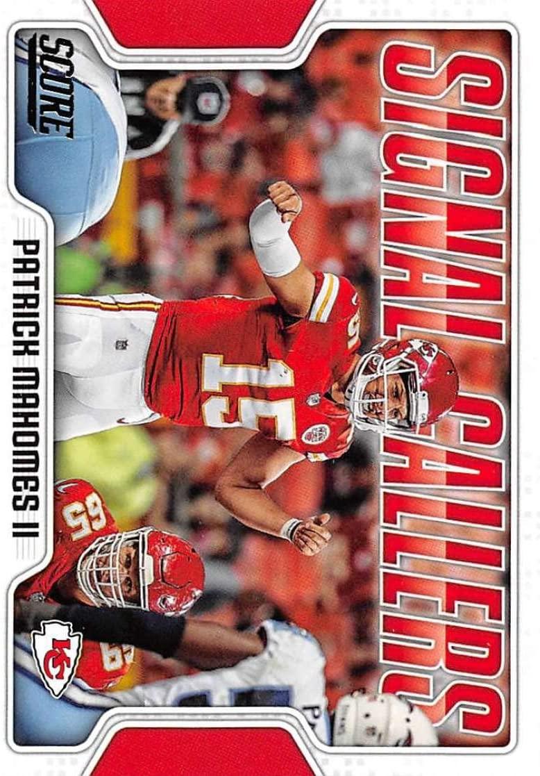 2018 Score Signal Callers #16 Patrick Mahomes II Kansas City Chiefs Football Card