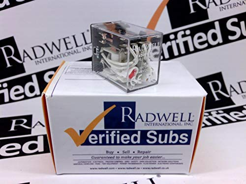 RADWELL VERIFIED SUBSTITUTE RAN4A4115SUB Relay - 120VAC, 5A 4PDT PCB Relay with LED - Replaces SCHRACK PN: RAN4A4115