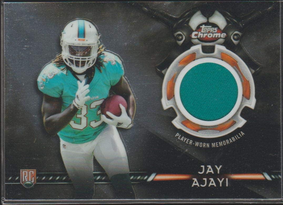 2015 Topps Chrome Jay Ajayi Dolphins Rookie Jersey Football Card #TCRR-JA