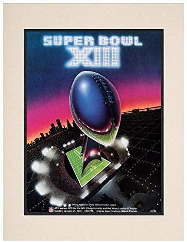 1979 Steelers vs Cowboys 10.5 x 14 Matted Super Bowl XIII Program - NFL Programs