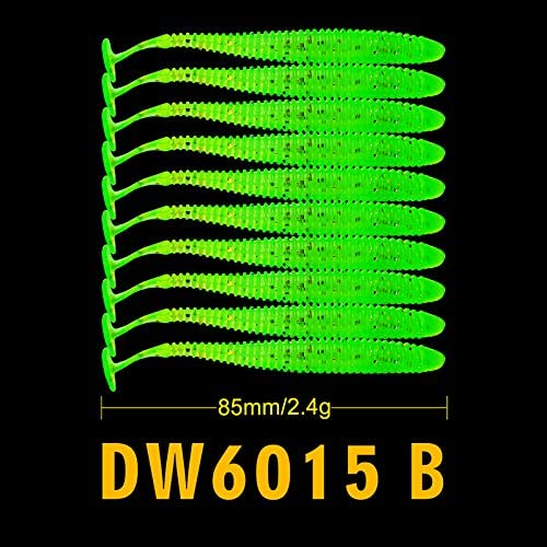 LELEXI : 10PCS 2.4g/8.5cm Pesca Artificial Soft Lure Japan Shad Worm Swimbaits Jig Head Fly Fishing Silicon Rubber Fish Fish
