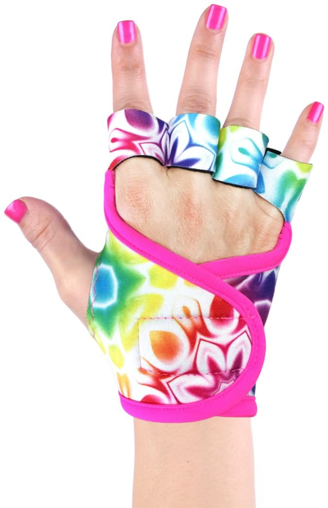 Womens Workout Gloves | Neon Collection | Best Gloves Grip Exercise Fitness Weightlifting