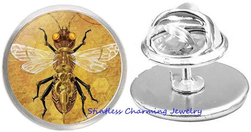 stintless charming Jewelry Honey Bee Brooch,Bee Pin,Bee Charm,Bumble Bee,Minimalist Pin,Bridesmaid Gift-JV154