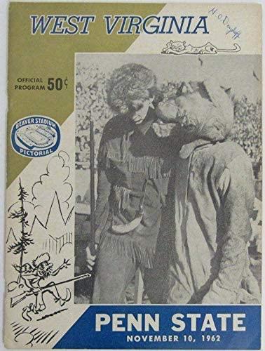 1962 West Virginia vs. Penn State Nittany Lions Football Program 137815 - College Programs