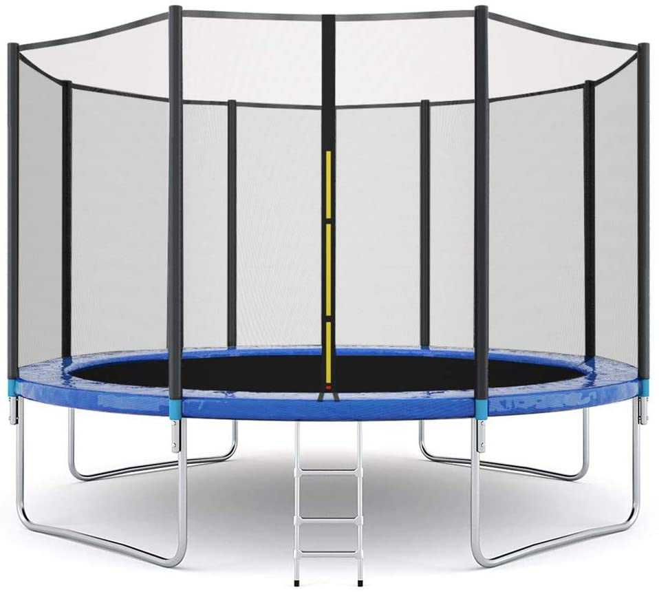 ZhixiaYS Kids Trampoline 12 FT Combo Bounce Jump Outdoor Trampoline with Enclosure Net Jumping Mat and Spring Cover Padding Outdoor Entertainment Recreational Trampolines