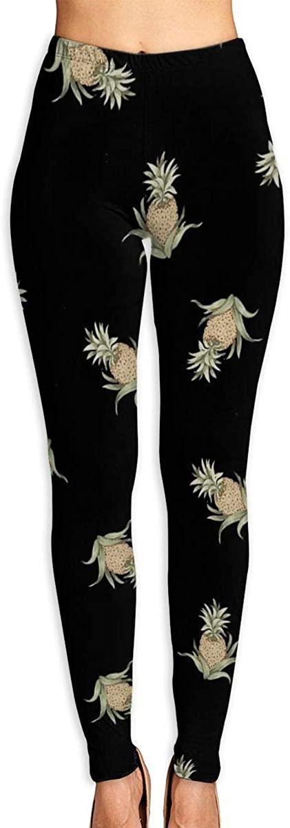 AUISS Yoga Pants for Women Girl Leggings Pineapple Running Workout Capris Long Trousers Training Gym