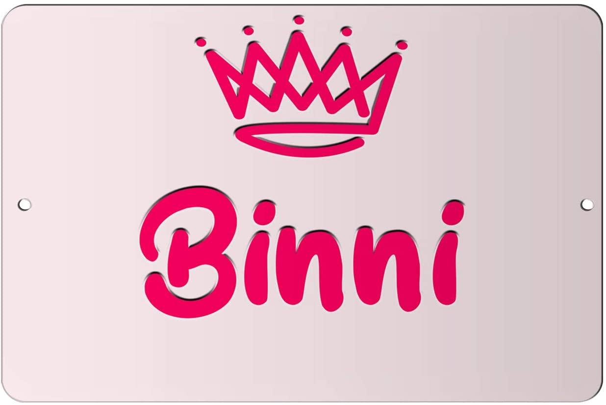 Makoroni - Binni Girl Female Name 12x18 inc Aluminum Decorative Wall Street Sign
