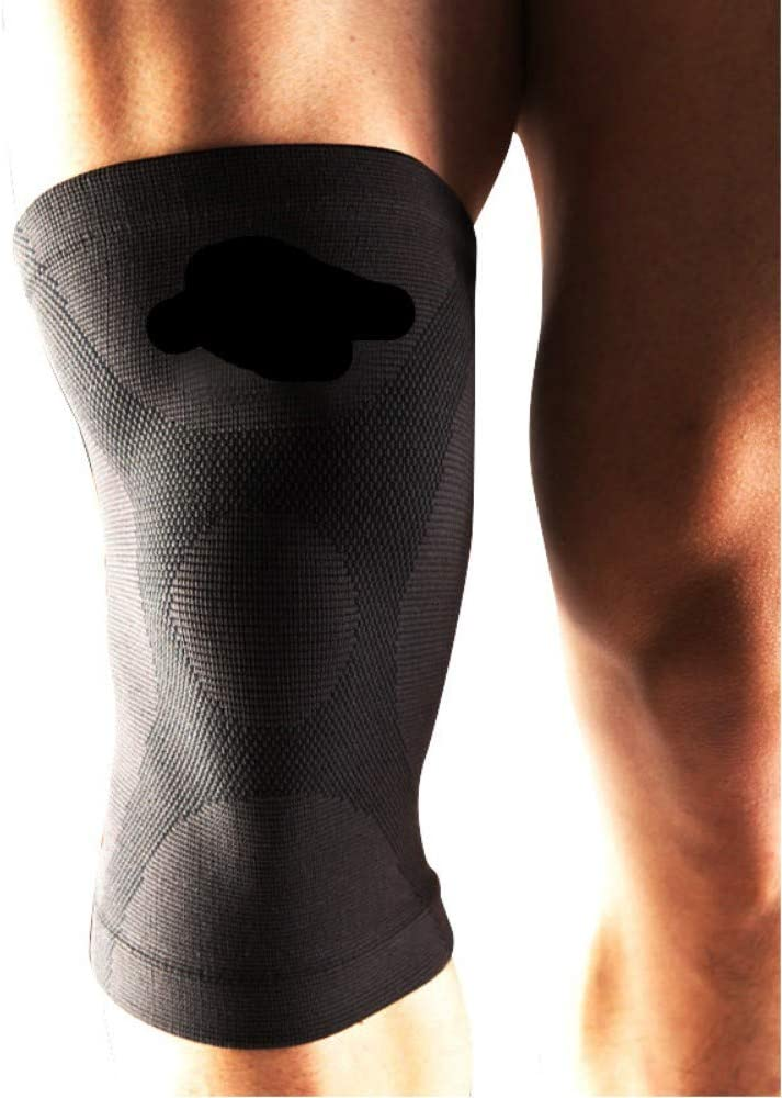fleeting time Sports Knee Pads for Men and Women to Keep Warm Exclusive Basketball Running Professional Knee Protection Outdoor Climbing Training Fitness, XL, Black ash
