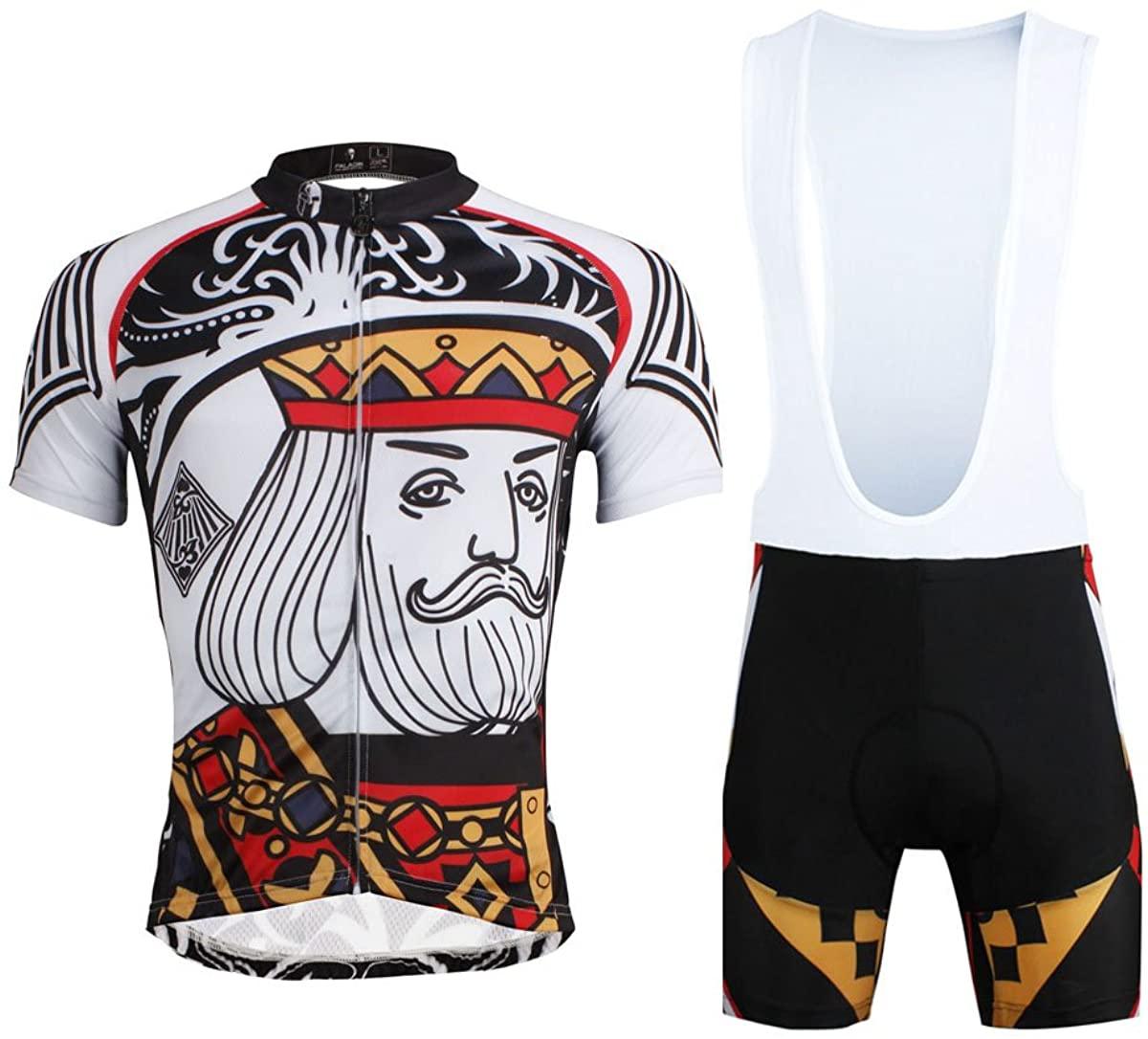 LAOYOU Poker Pattern - Diamond Mens Cycling Jersey Size S To 6XL