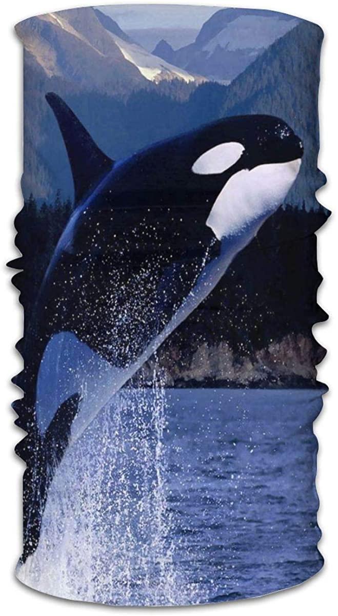 Orca Whales Face Mask Bandanas, Multi-Functional Full-Coverage Tube Masks, Neck Gaiter, Half Balaclava, Magic Scarf, for Women Men Unisex
