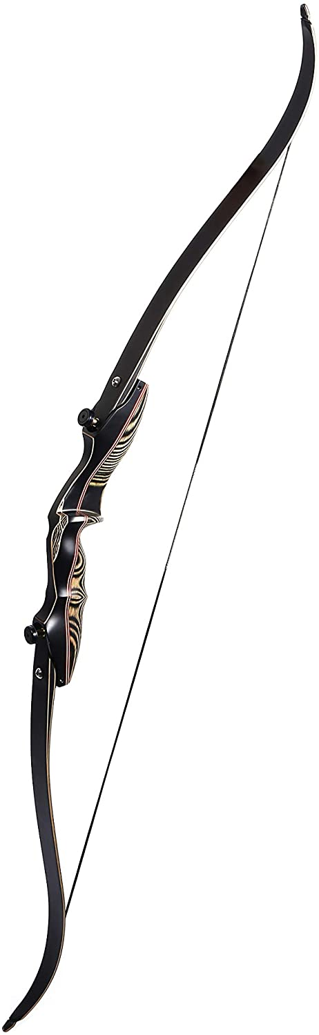"""Jumbo Knight Keystone Carbon KT ILF Recurve Bow – 60"""" – Excellent for Beginners to Pros – Riser Bag Included"""