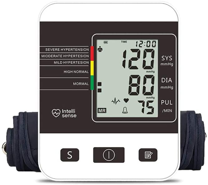 LJ2 Arm Blood Pressure Monitor, Fully Automatic One-Button Measurement Electronic Sphygmomanometer 99 Sets of Data Storage Dual User Mode/Gift for Parents