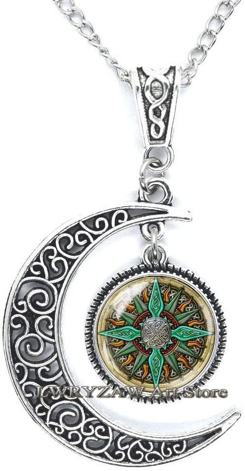 Celtic Compass Pendant, Compass Necklace, Compass Jewelry, Compass Charm, Celtic Necklace, Mens nescklace, Jewelry for Men, Man Pendant,M63