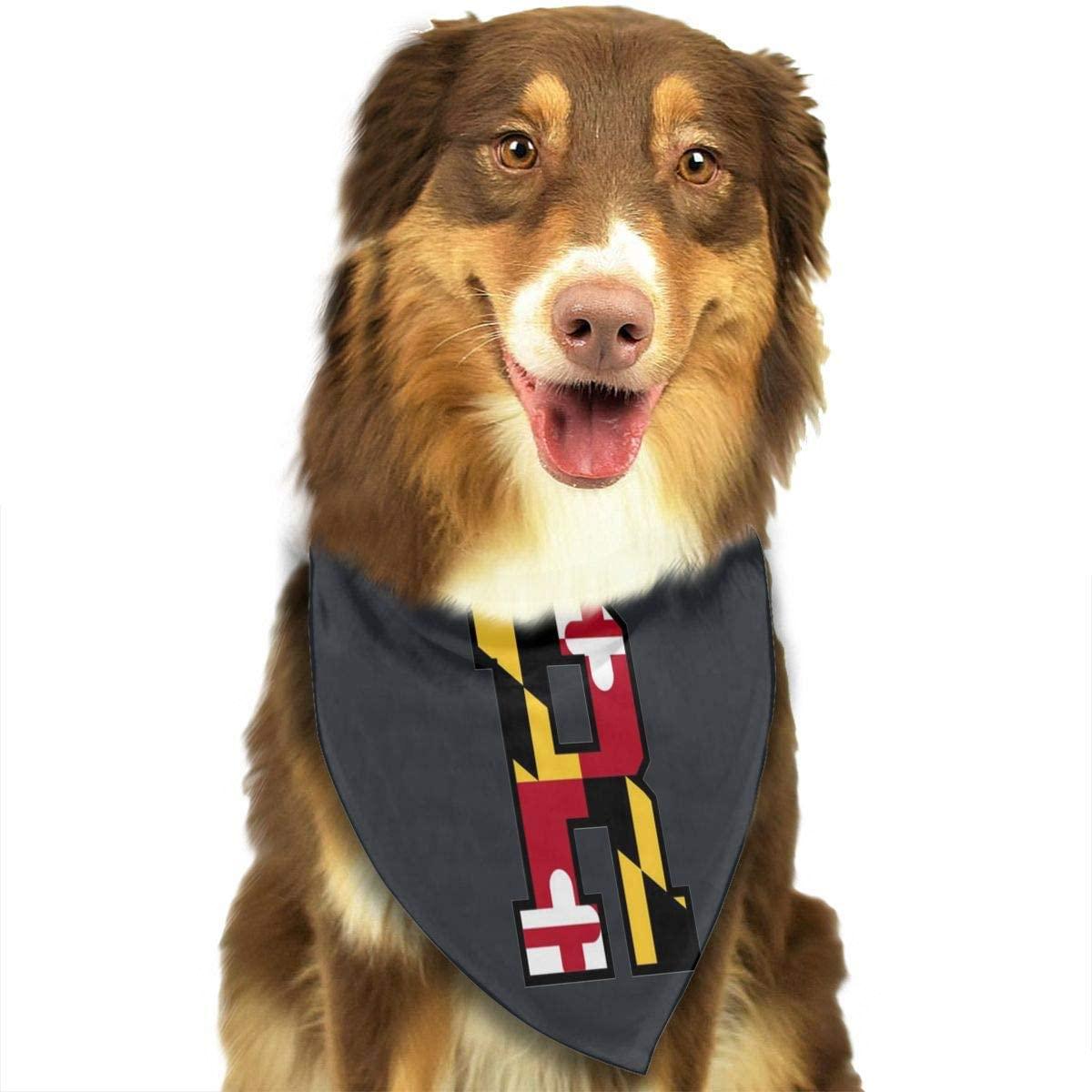 CHAN03 Dogs Bandana Collars Maryland Flag R Pets Triangle Neckerchief Puppy Bibs Scarfs Cats Scarfs Towel