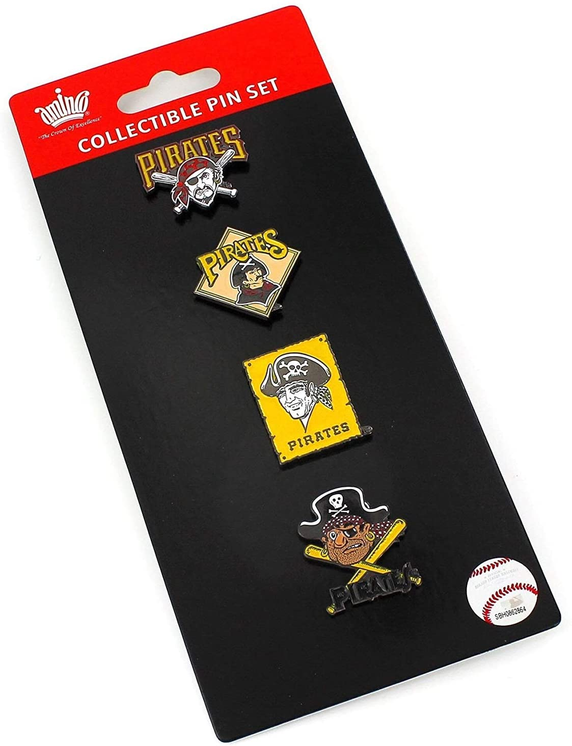 MLB Pittsburgh Pirates Logo History Evolution Lapel Pin Set