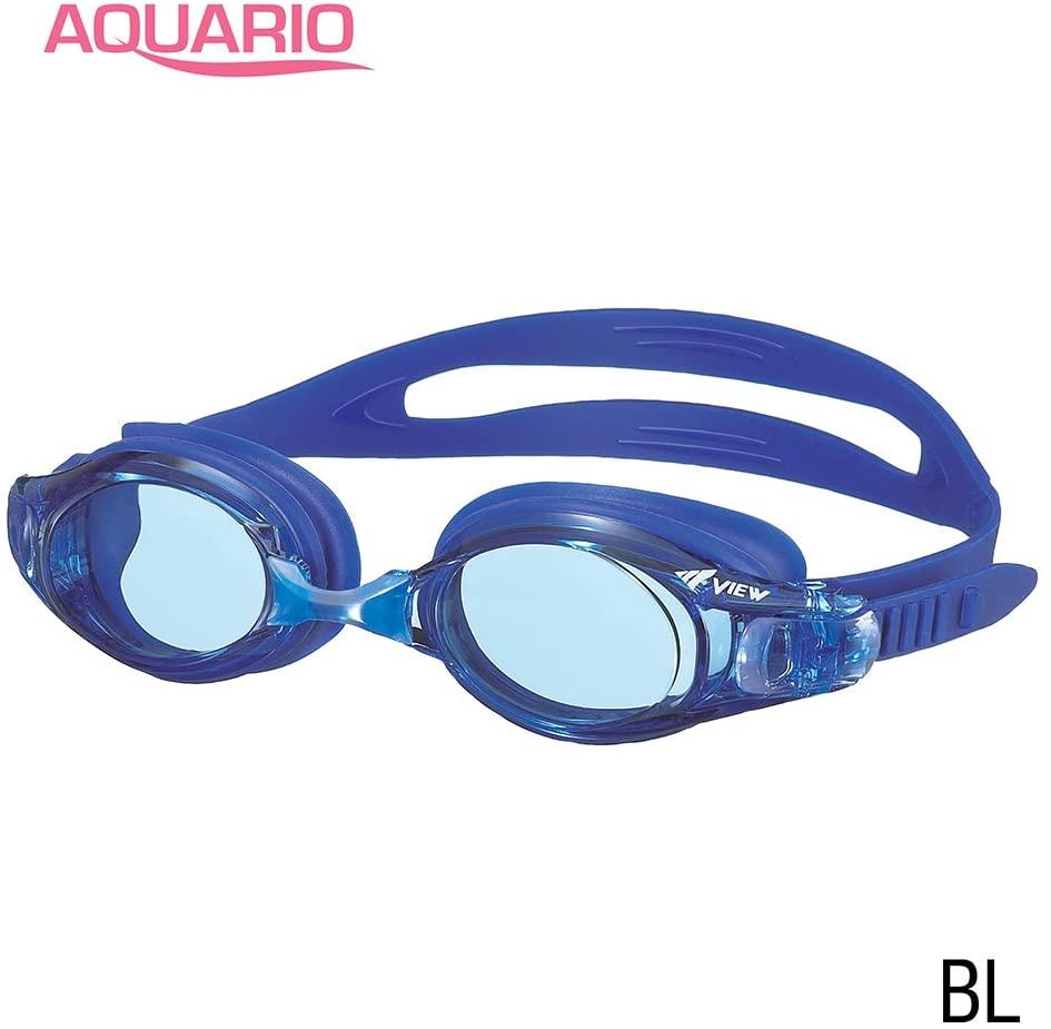 VIEW Swimming Gear V-550 Aquario Fitness Swim Goggles, Blue