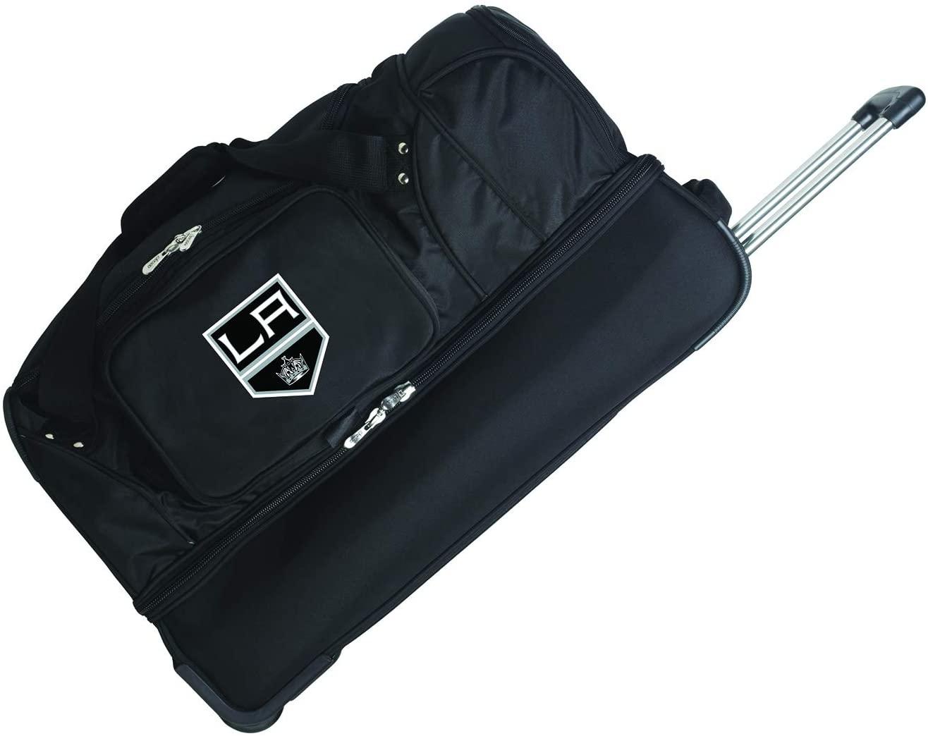 NHL Los Angeles Kings Rolling Drop-Bottom Duffel Bag, 27-inches