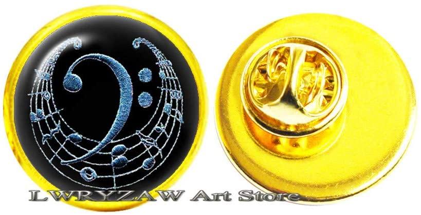 Music Symbol Brooch,Treble Clef Brooch,Bass Clef Brooch, Music Jewelry, Music Lover Jewellery, Music Lover Gift, Musician Gift Idea,M350