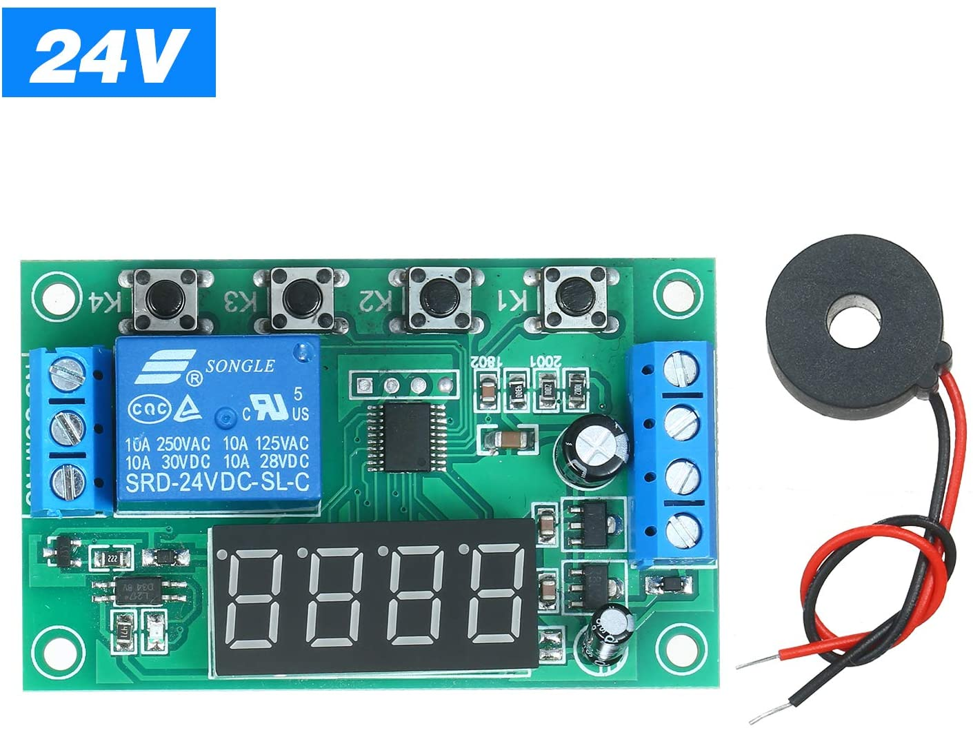 Ajcoflt Current AC Detection Module Current Sensor Electric Current Transducer Current Detection PCB Board Relay ON/OFF Control Module Current Transducer AC Over-current Protection Module Plate w