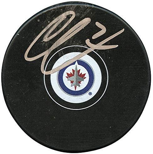 Authentic Autographed Ben Chiarot Winnipeg Jets Hockey Puck ~ JSA # V33765