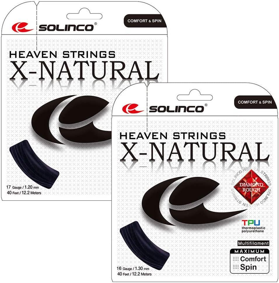 Solinco X-Natural Tennis String Black ()