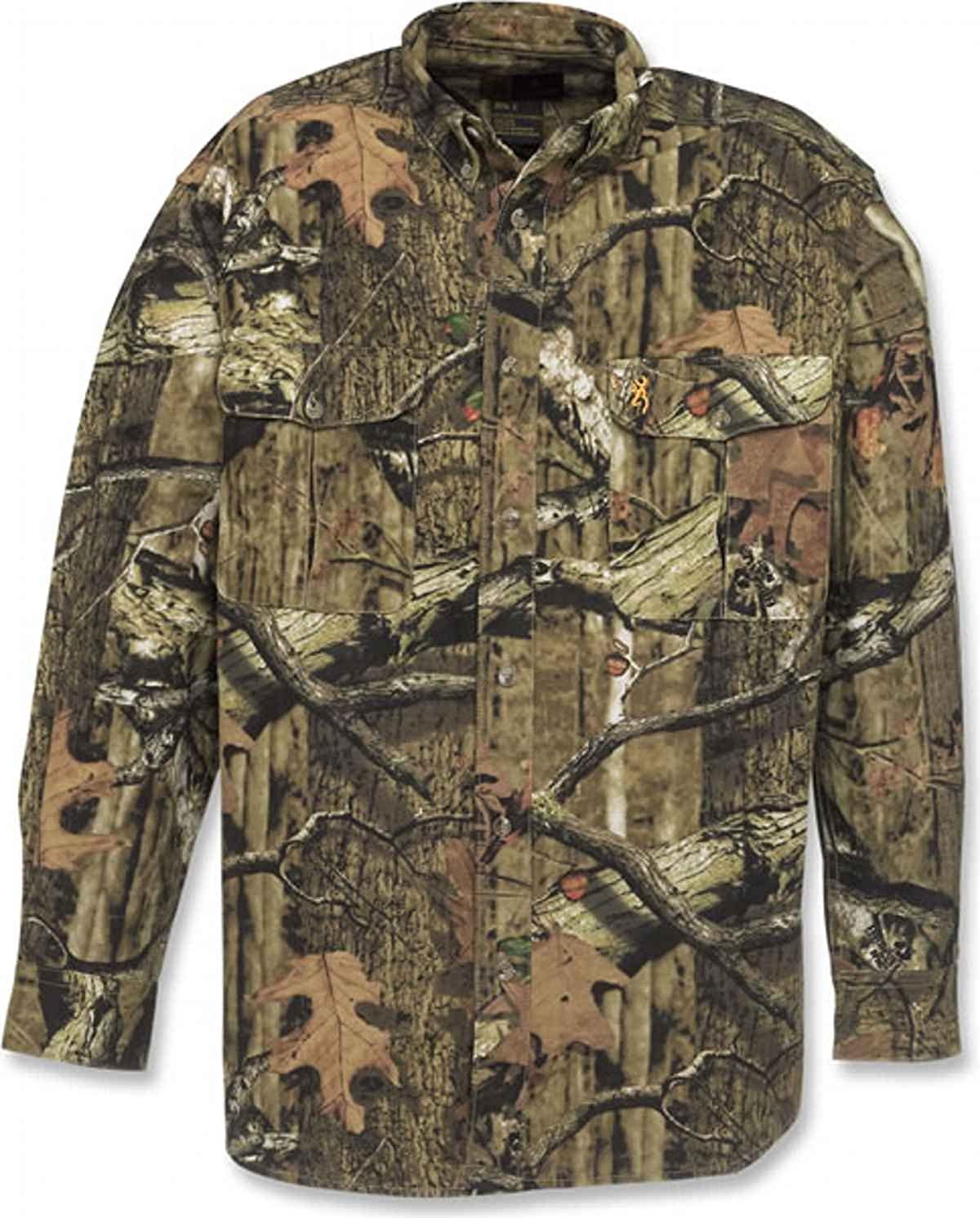 Browning Wasatch Chamois Shirt, Mossy Oak Break-Up Infinity, M 3011342002