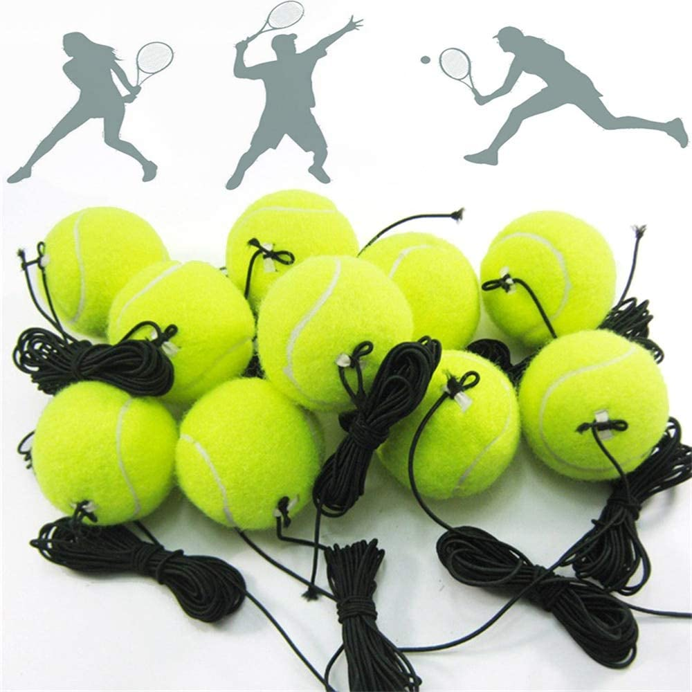 3pcs Professional Tennis Training Ball with 4m Elastic Rope Rebound Practice Ball with String Portable Tennis Train Balls