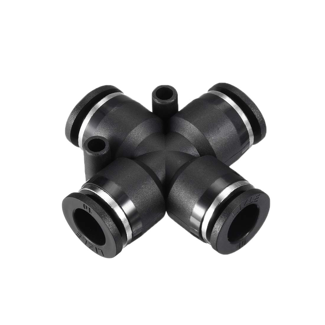 uxcell Plastic Cross Union Push to Connect Tube Fittings 10mm or 25/64