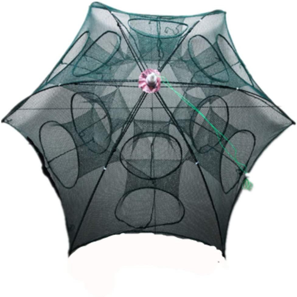 Ez4garden Portable Folded Thickening Fishing Net Bait Cast Mesh Trap Net for Catching Crayfish Fish Eels Crab