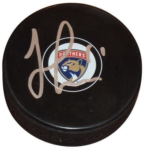 Jonathan Huberdeau Autographed Puck - Official - Beckett COA - JSA Certified - Autographed NHL Pucks