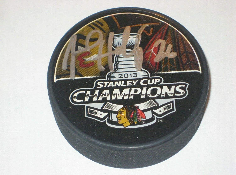 Michal Handzus Autographed Hockey Puck - 2013 Stanley Cup CHAMPS w COA - Autographed NHL Pucks