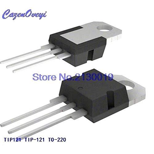 10pcs/lot TIP121 Transistor TIP-121 TO-220 Darlington NPN 80V 5A